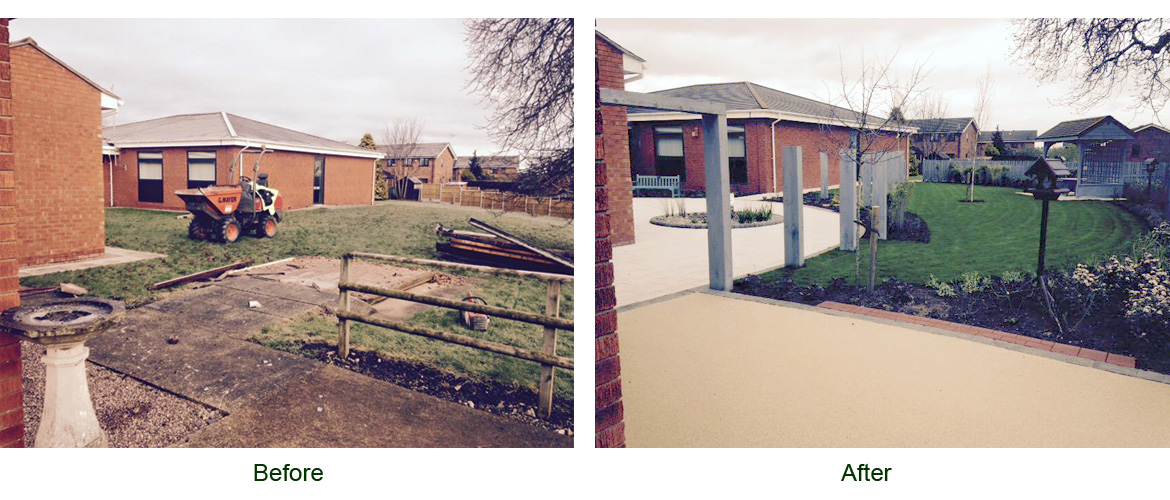 Landscaping at Whitchurch Community Hospital